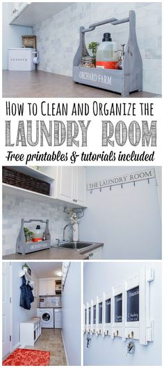 How to Clean and Organize the Laundry Room - the June Household Organization Diet.