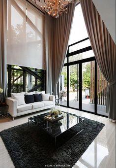 H-CAPE Double Volume Living Room #smalllivingroomfurnitureloft