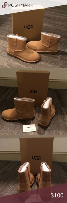 Ugg classic unlined mini perforated leather boot New with box UGG Shoes