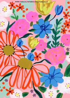 jpg Abstract Daisy Pattern by Tara Lilly Tara_GerberDaisy.jpg Abstract Daisy Pattern by Tara Lilly Pattern Floral, Daisy Pattern, Motif Floral, Abstract Pattern, Pattern Art, Flower Pattern Design, Surface Pattern Design, Art And Illustration, Floral Illustrations