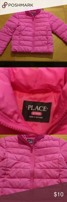 Children place coat Children place puffer coat. Pink. Excellent condition. Smoke free home. Size 5/6 Children's Place Jackets & Coats Puffers