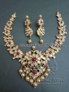 Peacock Pachi Set by Tibarumal jewels