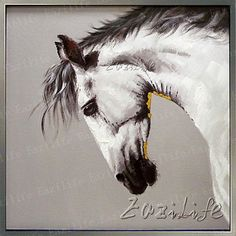 Aliexpress.com : Buy Horse Animal Oil painting On Canvas Wall Pictures Paintings For Living Room Wall Art plattle knife modern abstract hand painted from Reliable painting news suppliers on Eazilife Oil Painting  | Alibaba Group