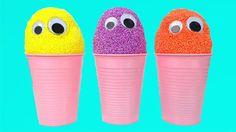 Fancy Foam Clay Surprise Eggs for Kids Littlest Pet Shops Hello Kitty Th...