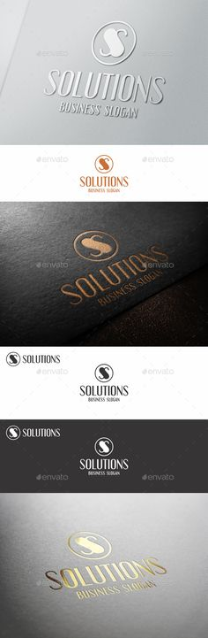 s logo letter monogram solutions vector eps strong stylish download here