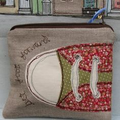 free hand machine embroidery  Would be cute for carrying sewing machine feet to a quilting retreat