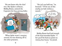 "Pages from ""Pirate adventures"" at www.usborne.com/pirates #pirates #children #books #Usborne #illustration #story"