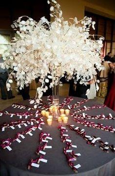 Annual Honesty - gorgeous, dramatic and simple Wedding Seating, Wedding Reception Decorations, Xmas Decorations, Flower Decorations, Dried Flower Bouquet, Dried Flowers, Purple Wedding, Wedding Flowers, Dream Wedding