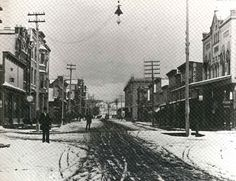Traverse City Michigan (Cherry Capital of the World). Downtown. Front street. Late 1800's.