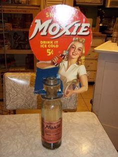 Moxie Soda Bottle Topper Display | eBay