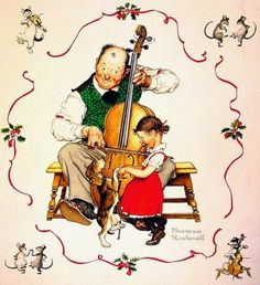 Norman Rockwell holiday painting