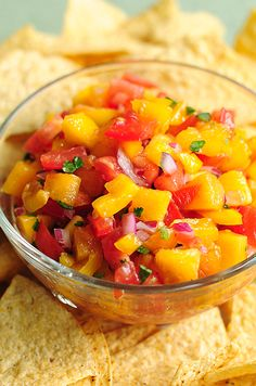 Peach Salsa | 1½ cups ripe peaches (4-6 depending on size), 1 cup tomato (about 2 medium), 1 tablespoon jalapeño, finely minced (about ½), ¼ cup yellow pepper, small dice (substitute red or green pepper if you'd like), ¼ cup red onion, finely diced, 1 tablespoon cilantro, chopped, juice of 1 lime, ¼ teaspoon ancho chili powder or other chili powder, 1 tablespoon brown sugar, salt and pepper to taste, for spicier version add more jalapeño or cayenne powder or other ground pepper to taste