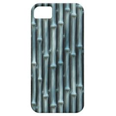 Elegant Abstract Teal Blue Bamboo Shoots Pattern Apple iPhone SE + 5/5S case