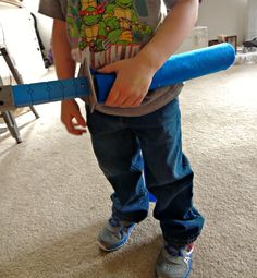 DIY Paper Towel Roll Craft Sword Sheath Tutorial #recycledcrafts