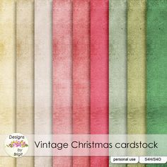 Vintage Christmas cardstock :: Papers :: Memory Scraps
