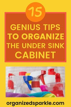 In this post, I'm going to show you my best under kitchen sink organization ideas. Including clever ways to declutter… Under Kitchen Sink Organization, Under Kitchen Sinks, Kitchen Cupboard Storage, Under Sink Storage, Storage Organization, Kitchen Cabinets On A Budget, Sink Shelf, Shelving Racks, Sink Organizer