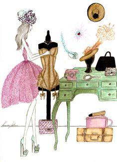 Fashion illustrations | Vanessa Datorre en stylelovely.com Más