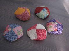 Japanese Otedama Chirimen Style Juggling Beanbags 5 Pcs | eBay
