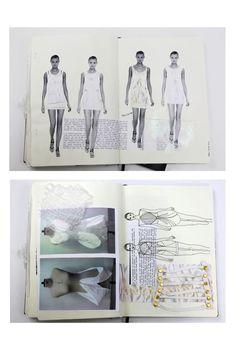 Fashion Sketchbook - fashion design drawings, fabric samples & development; fashion portfolio // Natasha Elliott