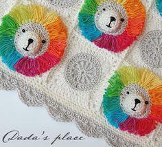 Dada's place: Rainbow Lion Baby Blanket
