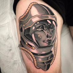 She's A Cosmic Space Girls Inspired Tattoo Designs – Leaky Lifeboat Outer Space Tattoos, Lake Tattoo, Astronaut Tattoo, Tattoo Now, Space Girl, Neo Traditional Tattoo, Cosmic Girls, Girl Tattoos, Black And Grey
