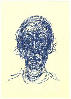 Alberto Giacometti, Portrait of Diego Alberto Giacometti, Arte Horror, Horror Art, Yarn Painting, Painting & Drawing, Drawing Heads, Art Drawings, Learn Art, Portraits