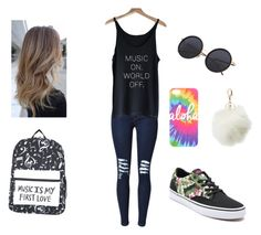 """""""First Day Of School 3/5"""" by rachelsdescription on Polyvore featuring Vans and Charlotte Russe"""