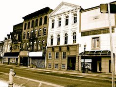 An artistic take on the historic buildings in Downtown Brantford, Ontario, Canada. Canadian Things, Norfolk County, Ontario, Stuff To Do, Places To Go, Buildings, Beautiful Places, Canada, Mansions