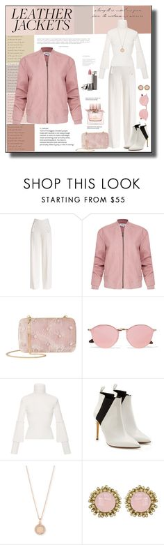 """Cool Girl Style:  Leather Jackets"" by cathy1965 ❤ liked on Polyvore featuring Derek Lam, Helmut Lang, Benedetta Bruzziches, Ray-Ban, Salvatore Ferragamo, Rupert Sanderson, Astley Clarke, Kendra Scott, Burberry and leatherjacket"