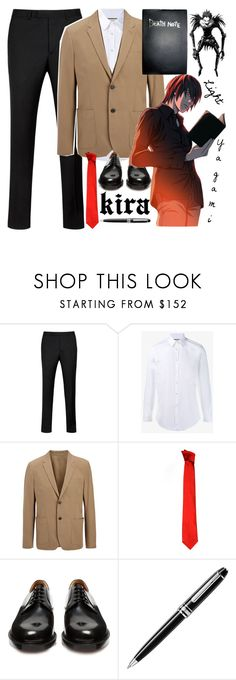 """""""Light Yagami - Death Note"""" by silverbullets-and-holywater ❤ liked on Polyvore featuring Ted Baker, Gucci, Joseph, Versace, Vetements, Montblanc, men's fashion and menswear"""
