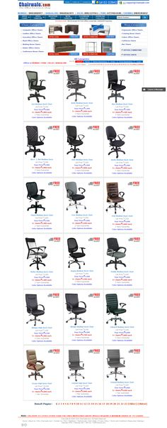 We provided furniture website design for Chairwale, a leading manufacturer of office furnitures. Website Development work for Chairwale, Furniture website includes product categories like Office Chairs, Office furniture, Reception Sofas, Metal furniture, Classroom furniture etc., product details page and have features to download catalogue. Chairwale, Furniture website design is completely user friendly with clean look and feel.  Website URL: http://www.chairwale.com/