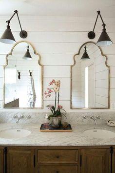15 Modern Bathroom Vanities For Your Contemporary Home Midcentury modern bathroom Ikea bathroom Powder room Bathroom inspiration Specchio bagno Mirror ideas Small Bathroom Mirrors, Bathroom Mirror Design, Bathroom Mirror Lights, Master Bathroom, Relaxing Bathroom, Wood Mirror, Bathroom Fixtures, Vanity Mirrors, Modern Bathroom
