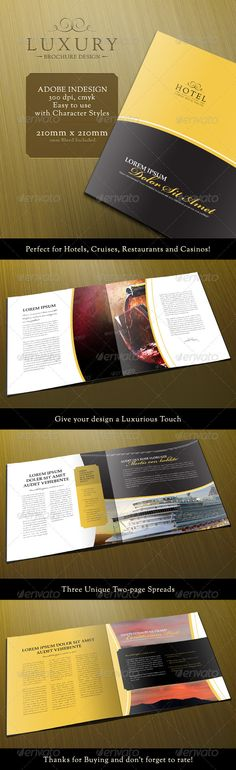 1000 images about design on pinterest brochure cover for Luxury brochure template
