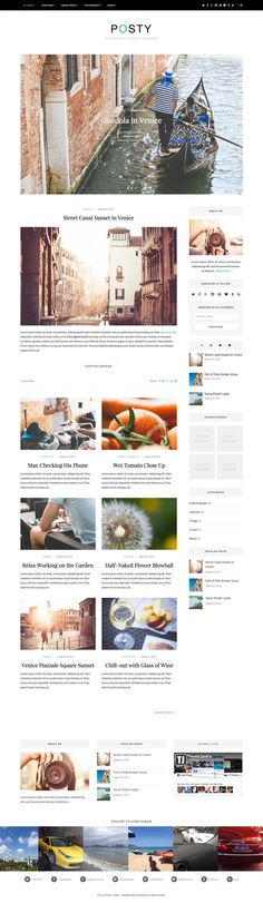 Posty WordPress Lifestyle Bloggers Theme - www.wpchats.com