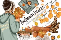 Printable Planner Stickers, Printable Cards, Travel Clipart, Leaf Clipart, Project Planner, Craft Business, Dark Skin, Autumn Leaves, Printing On Fabric