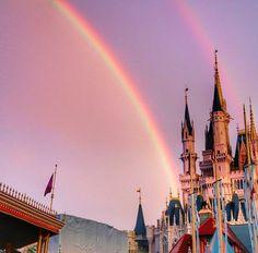 Double rainbows over Cinderella's castle | disney planning | walt disney world | magic kingdom