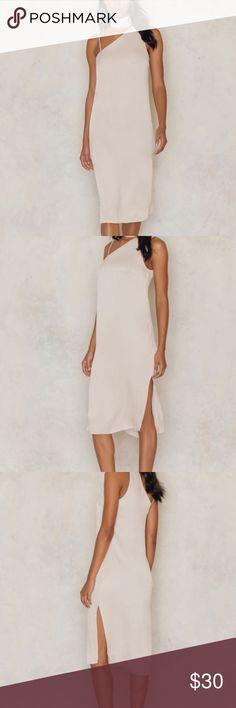 Asymmetric Slit Slip Dress   NaKd     Delivery