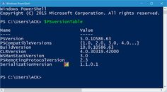 How to check PowerShell version in Windows 10