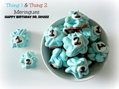 Dr. Seuss Thing 1 and 2 Meringues