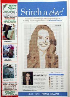 sandylandya@outlook.es  Kate Middleton Cross Stitch Chart
