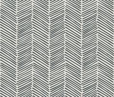 Freeform Arrows Large in slate on natural fabric by domesticate on Spoonflower - custom fabric