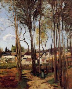 A Village through the Trees - Camille Pissarro