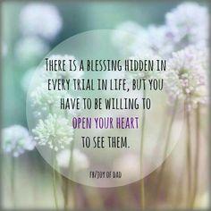 ...open your heart...