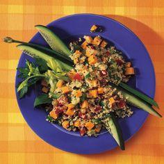 Salade de couscous, au Cheddar et aux légumes du jardin
