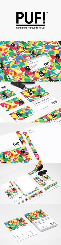 PUF! underground festival by Federico Landini and Jonathan Calugi | http://www.idependonme.com/  http://www.behance.net/lovers