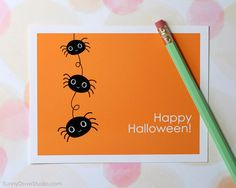 Funny Happy Halloween Card For Friend Her Him Spiders Pun Fun Cute Kawaii Sister…