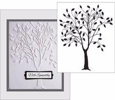 Tree with Leaves embossing folder Darice Embossing Folders 1215-50 leafy trees #Darice
