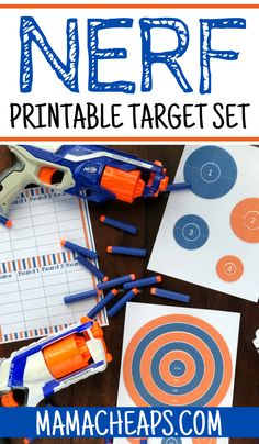 Have a bunch of NERF shooters and want to give the kids a fun challenge? Grab our NERF printable targets! Perfect for some NERF fun for young and old. Nerf Birthday Party, Nerf Party, Boy Birthday, Birthday Ideas, Summer Activities For Kids, Party Activities, Group Activities, Nerf Games, Target