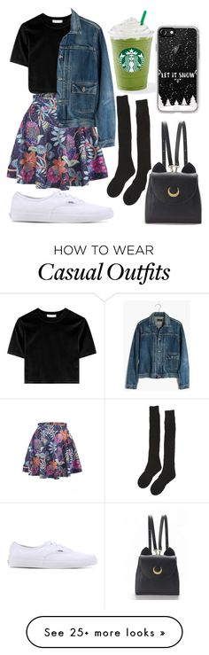"""27"" by annisahapsariw on Polyvore featuring WithChic, Madewell, Samantha Holmes, Vans, Casetify and StreetStyle"