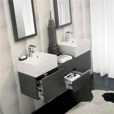 Bauhaus - Elite Unit & Basin - Steel - 3 size options
